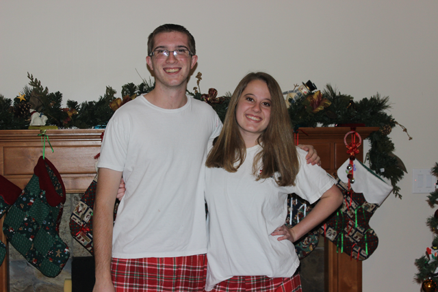 Anne and her date for the Bingham 2014 Christmas Dance