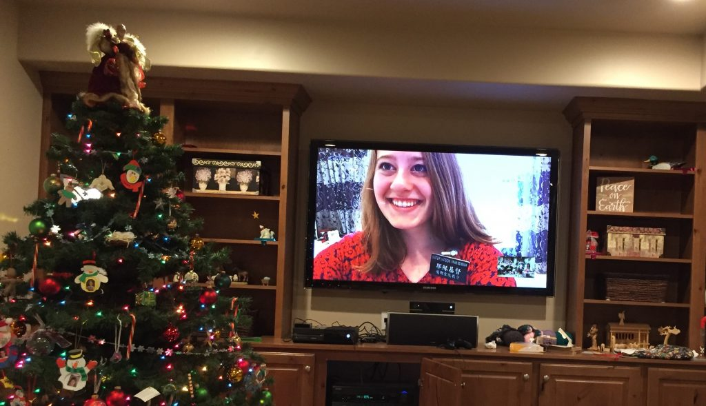 Skyping with Anne on Christmas