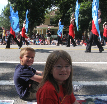 Enjoying the parade