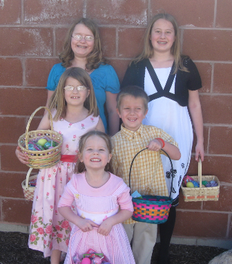 All decked out in their Easter finery