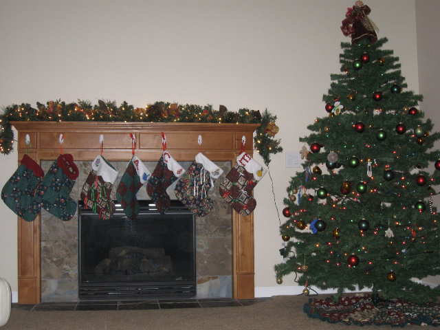 All the stockings were lined...