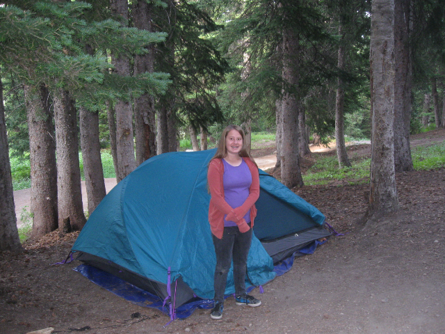 The older girls' tent
