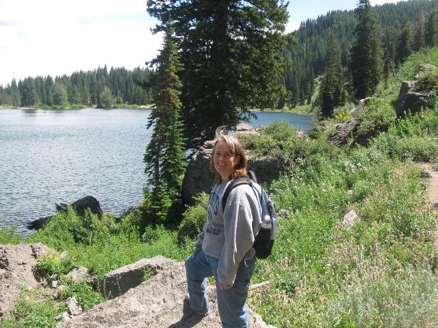 Hiking around Tony Grove Lake