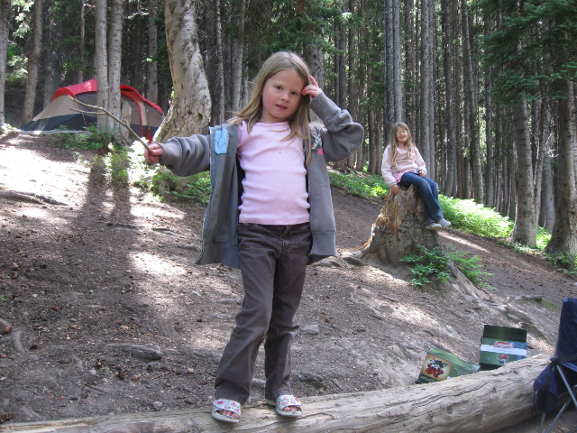 Fun around the campsite