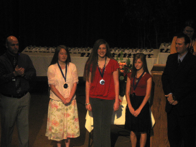 Anne got an honors award at school