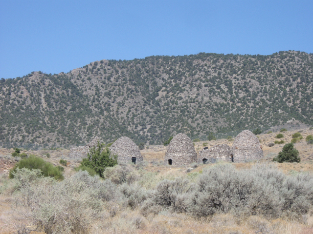 Charcoal ovens at the ghost town