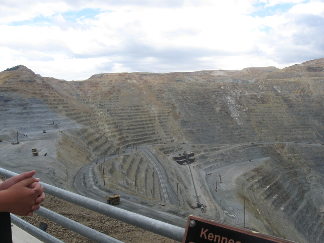 A view of the mine