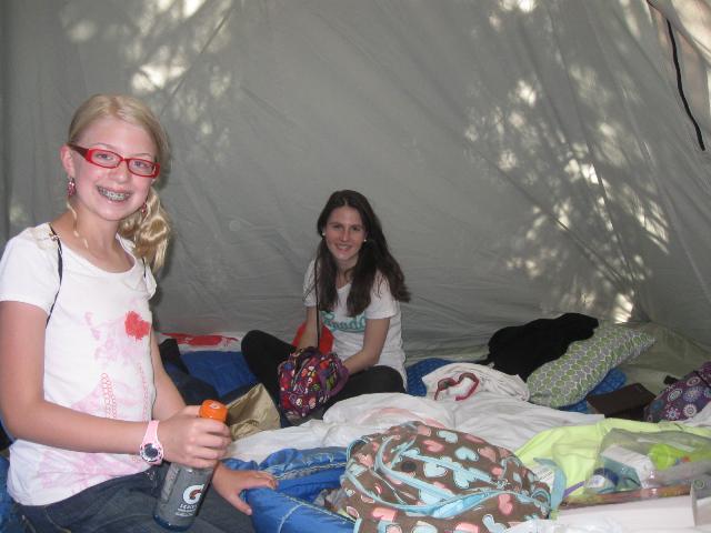 Ainhoa at camp