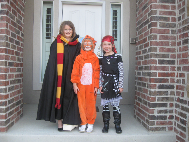 Hermione Granger and Tigger (I think) and a pirate neighbor
