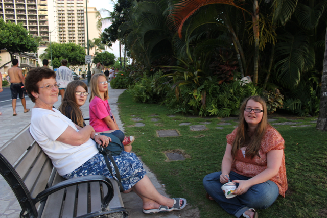 People watching on Waikiki