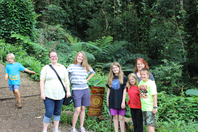 At the Manoa Falls trailhead