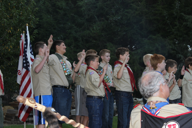 Doing the Scout Oath
