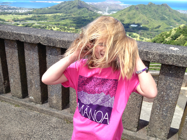 Diana at the Pali Lookout