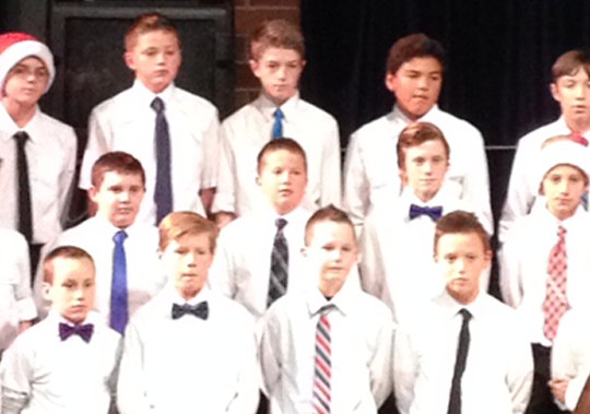 Sam's 7th grade choir